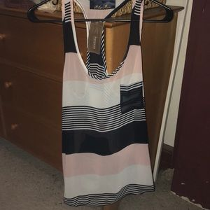 Striped chiffon tank top. Brand new!